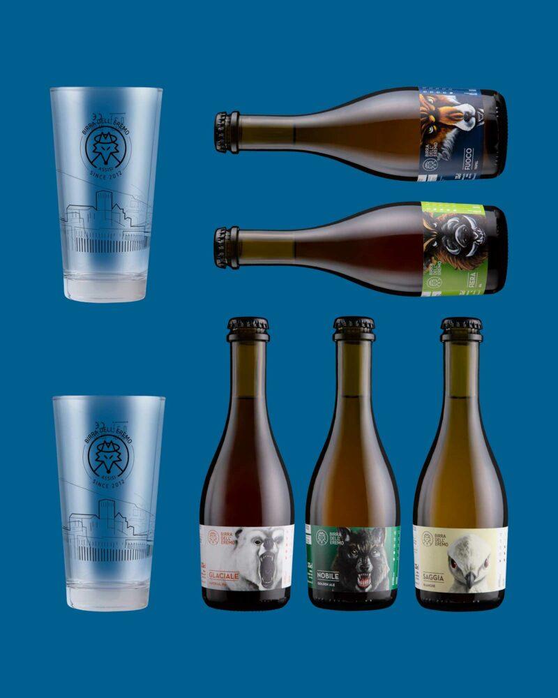 Pack Bottiglie e Bicchieri